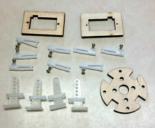 Usa Shipping - Rc Plane hw kit: Control Horns/Clevis + Motor / Servo Mount plate
