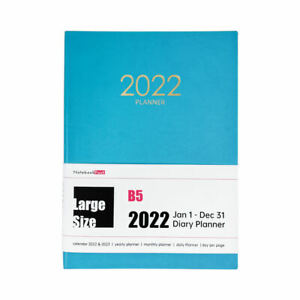 2022 Daily Office Planner 12 Month Personal Orgainzer for Man & Women, Large B5