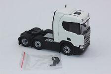 Tekno 70722 SCANIA R Series 6x2 Tractor Unit Plain White 1 50 Scale