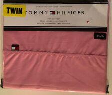 Tommy Hilfiger Dark Pink Twin Sheet Set Cotton NEW