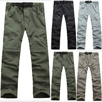 Men Quick Dry Detachable Tactical Cargo Pants Outdoor Hiking Mountain Trousers