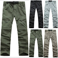 Men Outdoor Hiking Camping Quick Dry Breathable Waterproof Stretch Trouser Pants