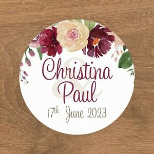 Personalised Wedding Stickers Favour Labels (E-025)