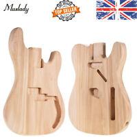 Unfinished DIY Guitar Body Sycamore Wood DIY Electric Guitar Body Barrel L5B0