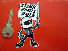 """Stink RUOTE regola 2 CORSA BIKE RIDER Adesivo 4 """"KAWASAKI MZ SUZUKI YAMAHA CICLOMOTORE"""