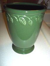 "Longaberger Pottery At Home Garden Vase, Green, 5"""