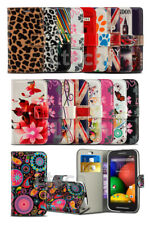For Apple Iphone 5 - Patterned PU Leather Wallet Book Style Case