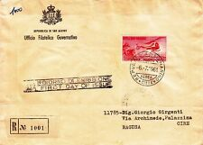 SAN MARINO 1000 lire-Busta raccomandata FDC 6.7.1961 per Ragusa