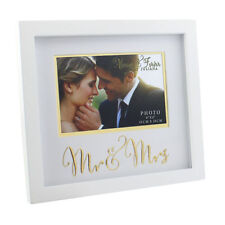 "Always & Forever Bianco Matrimonio 6"" x 4"" CORNICE Mr & Mrs wg72464"