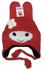 Hello Kitty My Melody Peruvian Hat Red Winter Hat One Size 4-10