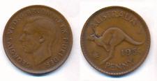 Australien 1 Penny 1951 Georg VI / Känguru doppelte Jahreszahl !