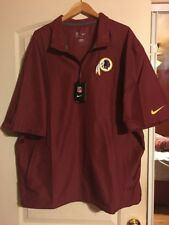 Genuine NFL Nike Redskins Onfield Apparel Short Sleeve Light Jacket Windbreaker
