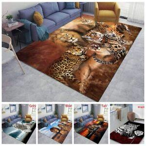 Animal Print Leopard Tiger Carpets Non-slip Kitchen Area Rugs Floor Mats Decor