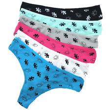 6 Pack Women's Ladies Sexy Thongs Cotton G-string Knickers Underwear,Sz 8 10 12