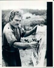 1984 Actor Stacy Keach Painting Mistral's Daughter TV Miniseries Press Photo