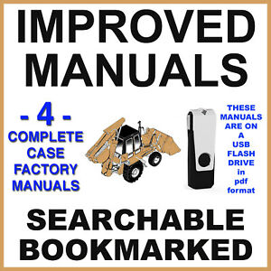 Case 580 Super L 580SL PARTS OPERATORS ENGINE SERVICE REPAIR Manual -4- Manuals