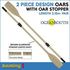Boat Oar with Oar Stopper/Sleeve Heavy Duty, 2 Piece Design - Length 2.15m