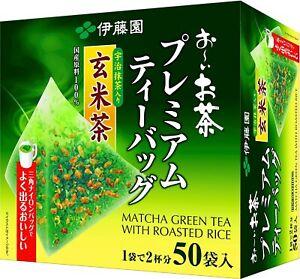 Itoen Green tea with roasted rice Matcha Premium tea bag 50 bags Japan Import