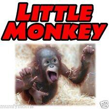Pequeño Mono Rojo bebé niños niños A5 En Hierro T Shirt transferencia