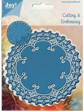 "JOY CRAFTS DIES - 60031004 -  ""ROUND DOILY 4""  FOR CARDS OR SCRAPBOOK PAGES"