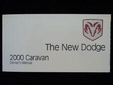 2000 Dodge Caravan Owners Manual