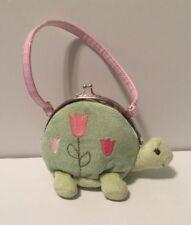 Gymboree Plush Turtle Purse Light Green Tulips Coin Pouch Pink Strap Easter