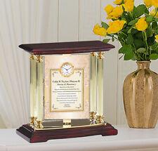 Pharmacy Student School Graduation Gift Metal Brass Desk Swivel 360 degree Clock