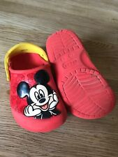 Mickey Mouse Crocs Red- Size 8 child used