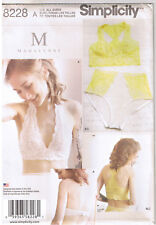 Soft Cup Halter Racer Back Bra Brief Panty Panties Sewing Pattern Size 32A-42DD
