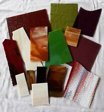 Stained Glass Small Medium Pieces Scrap Mixed Lot Mosaics Art Crafts #4