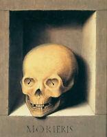 Oil painting hans memling - still life skull Skeleton in Shrine hand painted art