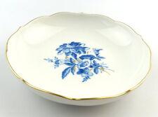#e3921 Kleine Meissen Porzellan Schale 2. Wahl Aquatinta Goldrand Blumen