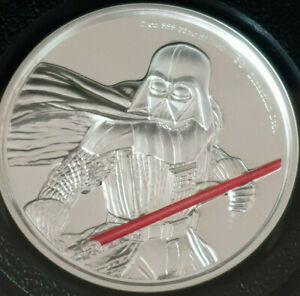 Star Wars Silbermünze Silver Coin 2oz Darth Vader 2429 New Zealand Mint