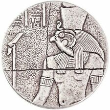 2016 2 oz Republic of Chad Egyptian Relic Series Horus Silver Coin Antiqued BU