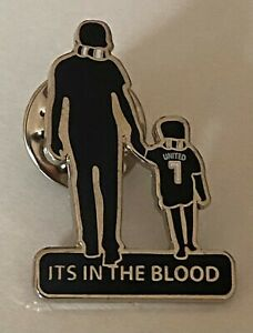 NEWCASTLE UNITED FATHER & CHILD ITS IN THE BLOOD ENAMEL PIN BADGE - TOON ARMY