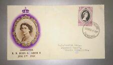 Malaya Terengganu Trengganu FDC 1953 QE Queen Elizabeth II Coronation