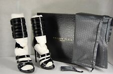 MOST SEXIEST !!! Philipp Plein Popstar GLADIATOR HIGH HEEL  SANDALS EU 38 US 8