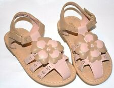 JUMPING BEANS CREAMSICLE PINK FLORAL CUSHIONED FOOTBED SANDALS SHOES GIRLS 7T