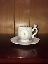 Vintage Precious Moments September Teacup and Saucer.
