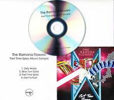 THE RAMONA FLOWERS Part Time Spies Sampler 4-track promo only CD + press release