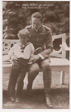 Vintage Postcard Prince August Wilhelm of Prussia & Son Alexander Ferdinand