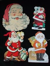 Vintage Christmas Santa Claus Die Cuts Decor Paper Card Bank Ad Doll Toys 1926