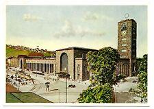 Stuttgart Hauptbahnhof Vintage Postcard Central Station 1953 Postmark