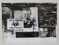 Photo ancienne 18x24 affiche DE GAULLE CANCER Paris mai 68 poster may 1968 6