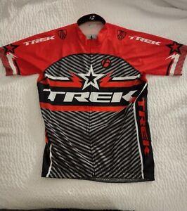 Bontrager TREK XL Bicycle RACING Cycling Jersey Full-Zip Shirt W/ Pockets