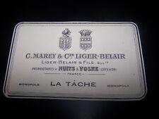 Etiquette vin ancienne La tache Monopole C.Marey & Comte Liger-Belair wine label