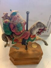 Santa- Willitts Christmas Memories Carousel Horse Music Box - S.C. is coming to