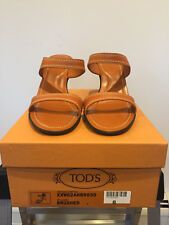 TODS Open Toe Heels Shoes in Tan / Brown size 8.5 Women's - NEW