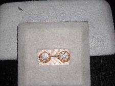 145 14k yellow gold cluster diamond earrings post push back .5 carat F-G VS 2