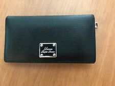 Ralph Lauren Lady's Wallet by Ralph Lauren Women Black Silver Plate Leather